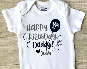 Happy Birthday Daddy Outfit Navy And Gray 30th Baby Boy