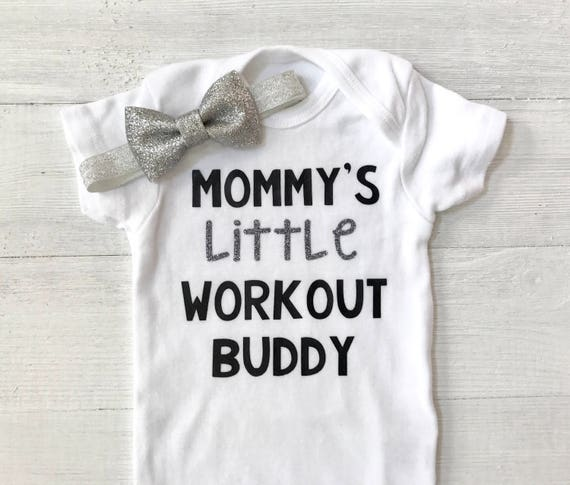 df8fb2488 Mommy s Little Workout Buddy Newborn Baby Oufit Baby