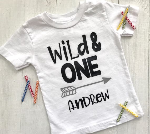 Baby Boy First Birthday Wild And One T Shirt