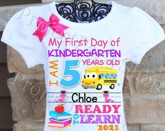 First Day of Kindergarten Shirt, First Day of School Shirt, Kindergarten Cutie Shirt, Lil Miss Kinder Cutie Shirt, Back to School Shirt