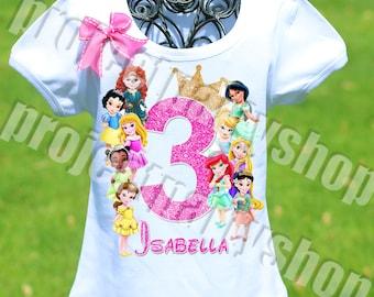 Disney Princesses Birthday Shirt Toddler Princess Baby