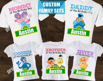 Sesame Street Family Shirts Birthday Shirt