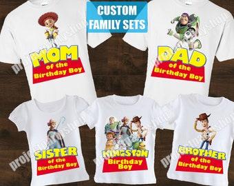 Toy Story Family Birthday Shirts, Toy Story 4 Birthday Shirts, Toy Story Family Shirts