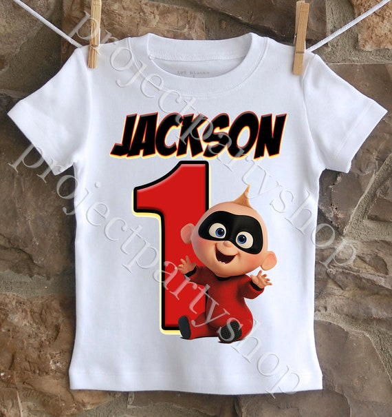 Incredibles First Birthday Shirt Jack