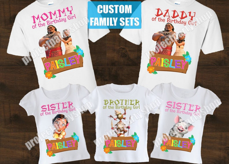 d049a7c0 Moana Family Birthday Shirts Moana Birthday Shirt Moana | Etsy