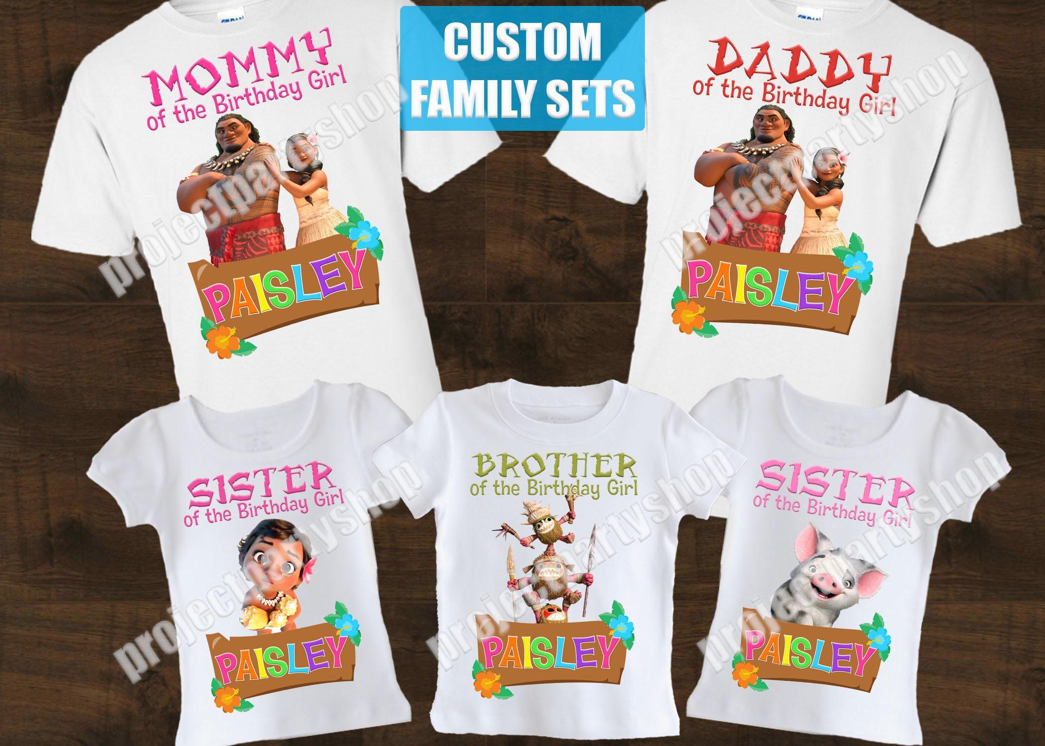 Moana Family Birthday Shirts Moana Birthday Shirt Moana Etsy