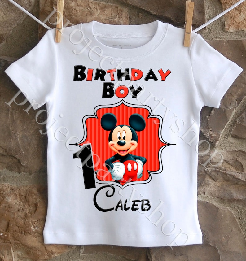 Mickey Mouse Birthday Shirt Boys Boy