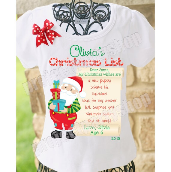 LOL DOLLS CHRISTMAS GIRLS PERSONALISED CHRISTMAS T-SHIRT//100/% COTTON// FREE POST