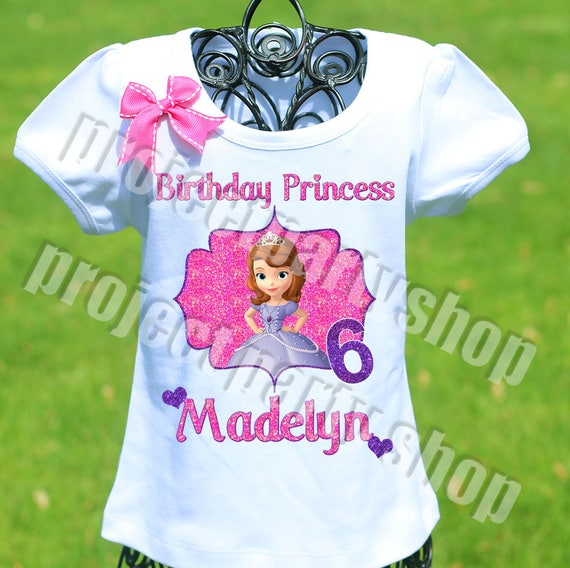 Sofia The First Birthday Shirt Princess