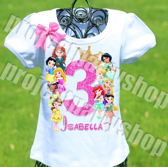 Disney Princesses Birthday Shirt Toddler Princess