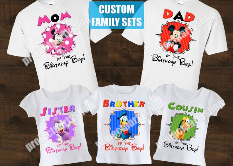 5ef4f9a4 Mickey Mouse Clubhouse Family Birthday Shirts Minnie Mouse | Etsy