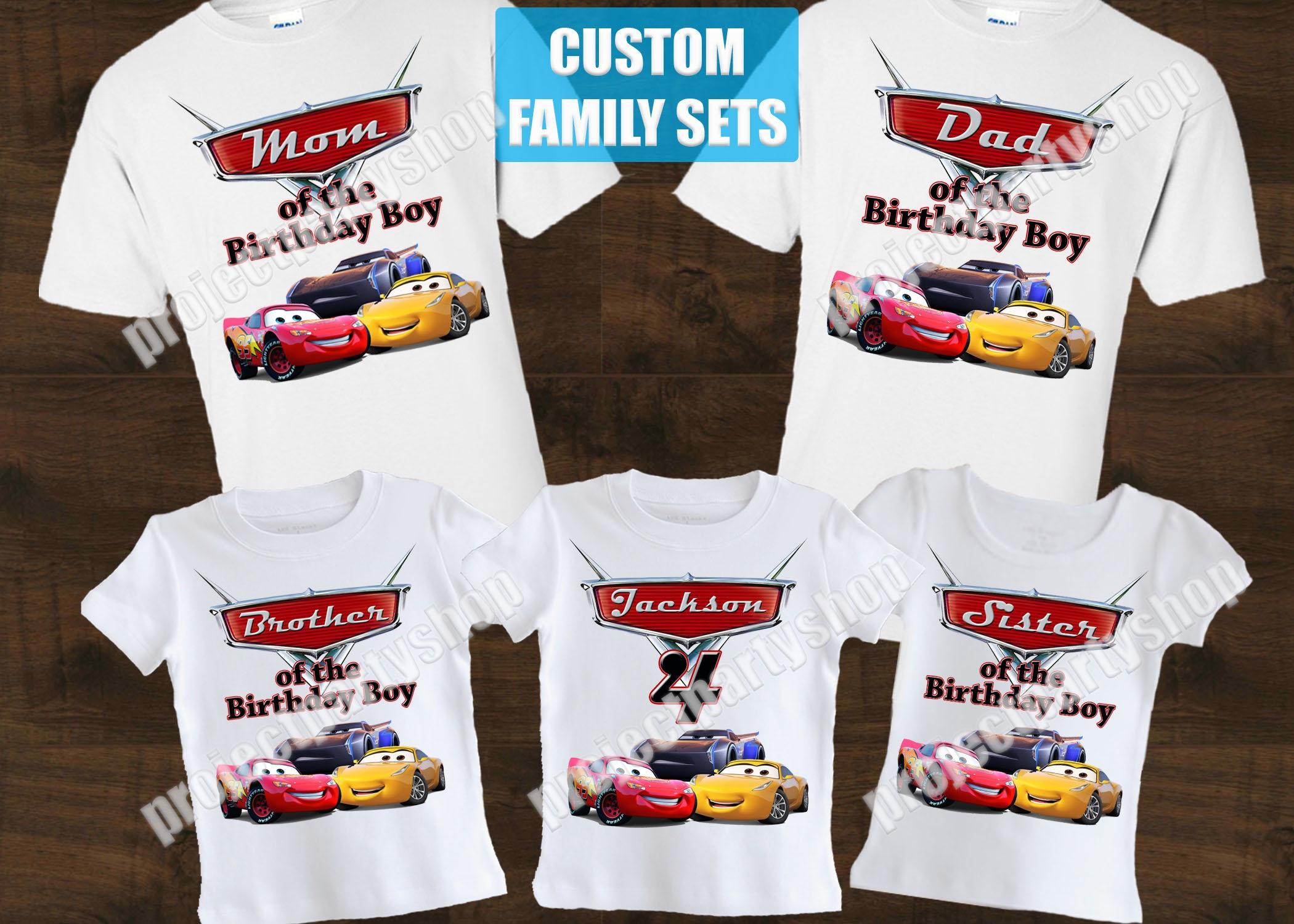 Cars 3 Birthday Shirt Family Shirts
