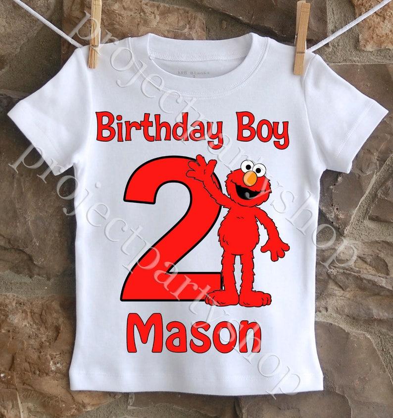 Elmo Birthday Shirt Boys Sesame Street