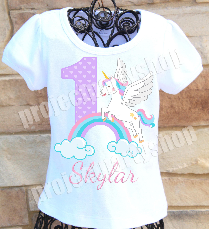 22d11064 Unicorn Birthday Shirt Rainbow Unicorn Birthday Shirt Pastel | Etsy