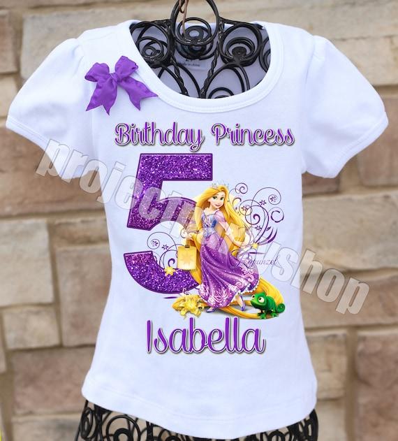 Rapunzel Birthday Shirt Tangled