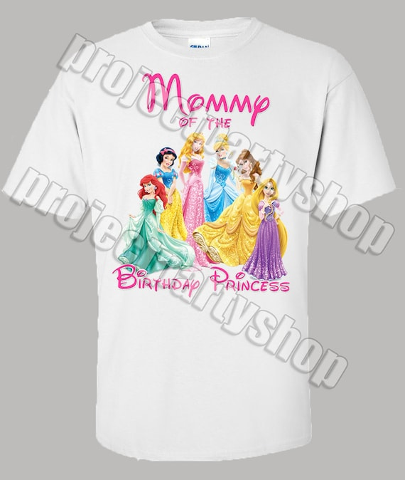 88cfa8ea Disney Princess Mommy Shirt Disney Princess Birthday Shirt | Etsy