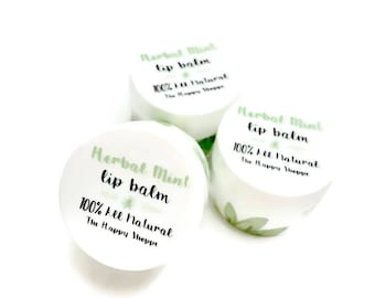 Herbal Mint All Natural Lip Balm