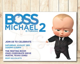 Boss Baby Cupcake Toppers Instant Download 12 Designs 9 Etsy
