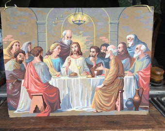 "Paint by numbers ""Last Supper"" painting"