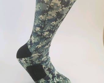 Pixelated Camo Elite Socks