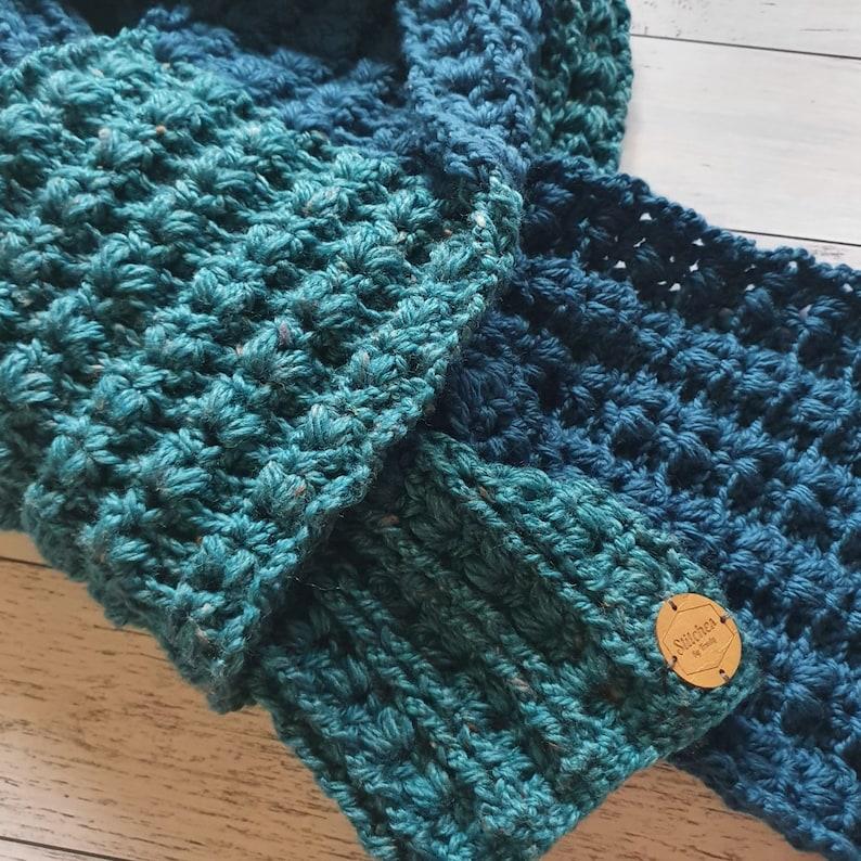 Ezra Scarf PDF Digital Pattern File  Winter Knitwear  Adult size  PATTERN ONLY