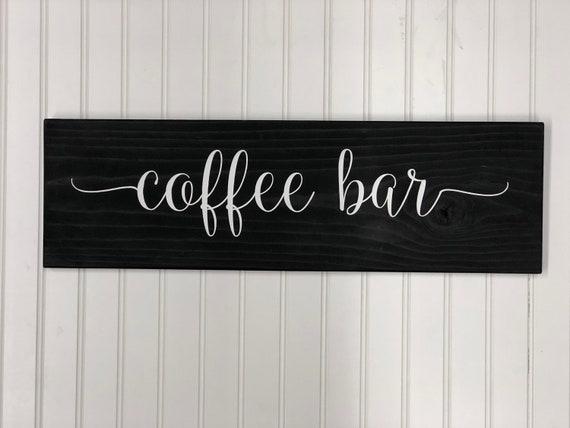 Coffee Sign Kitchen Decor Farmhouse Decor Rustic Home Etsy