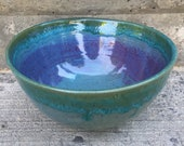 Handmade pottery bowl / serving bowl / salad bowl/ gift / stoneware / ceramic / wheelthrown / one of a kind