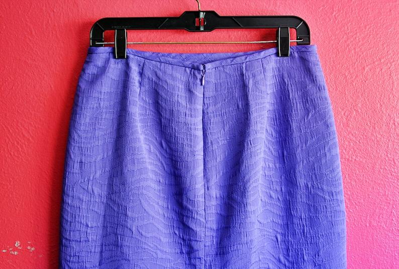 Y2K Purple Textured Animal Print High Waist Pencil Skirt