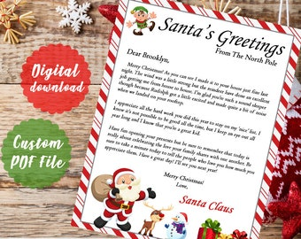 Cards & Stationery HIGH QUALITY  PARCMHMENT letter from Santa Father Christmas xmas BIRTHDAY Celebrations & Occasions