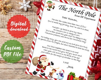 goodbye elf lettergoodbye elf on the shelf letter to childcustom printable pdf