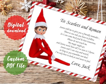 no touch reminder magic elf letter elf on the shelf reminder to not touch letter custom printable pdf