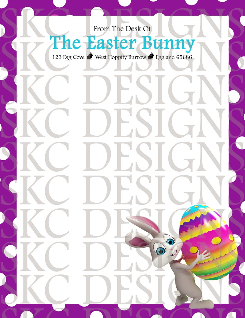 photo relating to Easter Bunny Letterhead identified as Easter Bunny Letterhead* PRINTABLE** Instantaneous Down load