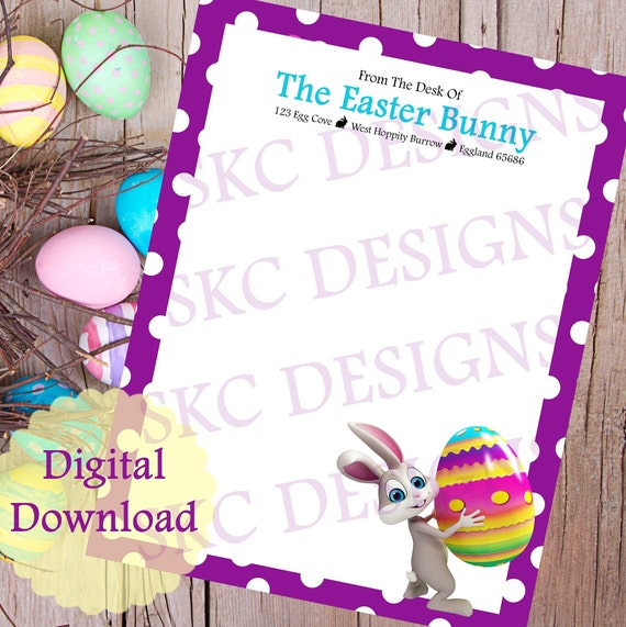 photograph relating to Easter Bunny Letterhead identified as Easter Bunny Letterhead* PRINTABLE** Fast Obtain