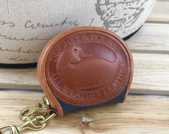 Dooney & Bourke Brown Leather Big Duck Coin Purse