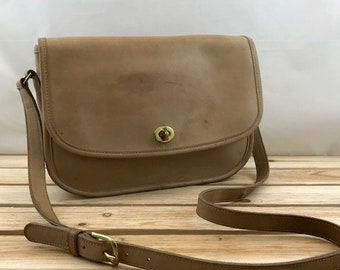 52ca2ad65f Coach City Bag Legacy Beige Leather with Flap with Shoulder Strap