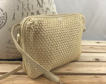 673e504814 BOTTEGA VENETA Small Woven Canvas Shoulder Bag