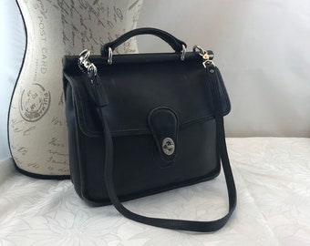 e29ed09038 COACH Willis Black Leather with Shoulder Strap