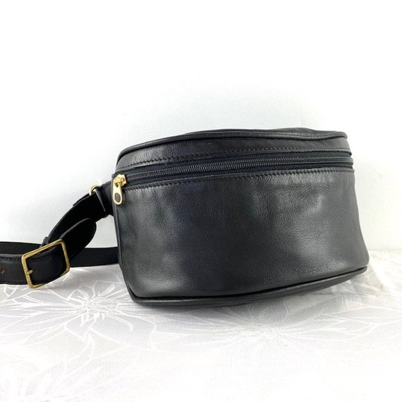 COACH Canteen Black Leather Fanny Pack Waist Bag