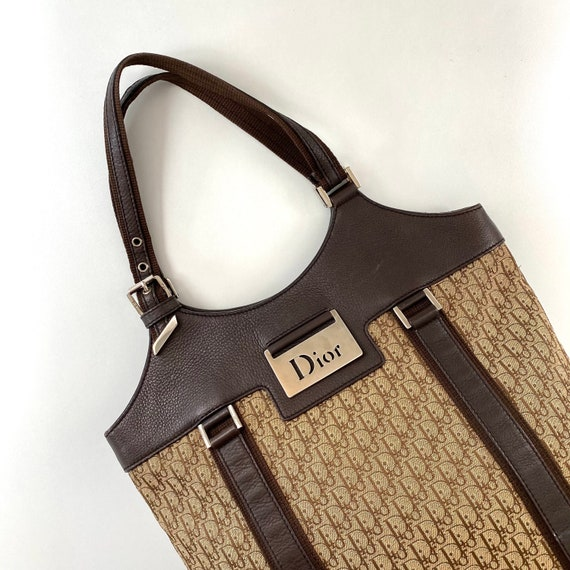 Christian Dior Street Chic Trotter Brown Tote Bag
