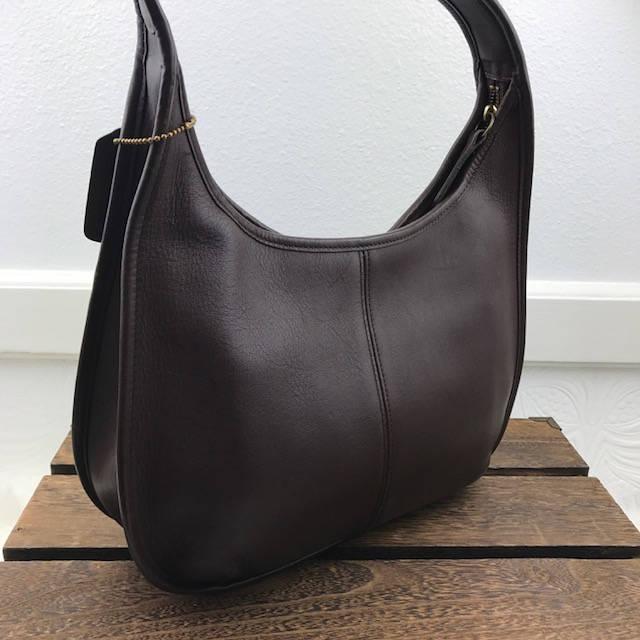 bdcd69fb94 COACH Vintage Brown Leather Ergo Hobo Shoulder Handbag 9033