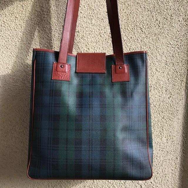 5b1ef444cb POLO Ralph Lauren Extra Large Tote Bag Classic Tartan Plaid Green ...