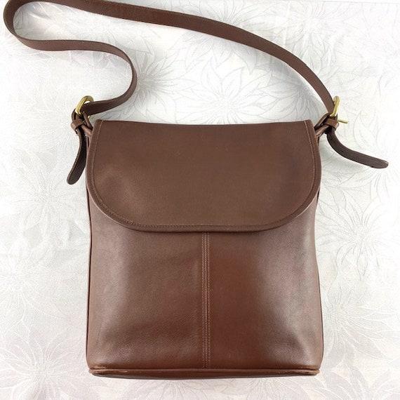 Coach Brown Leather Slim Bucket Bag