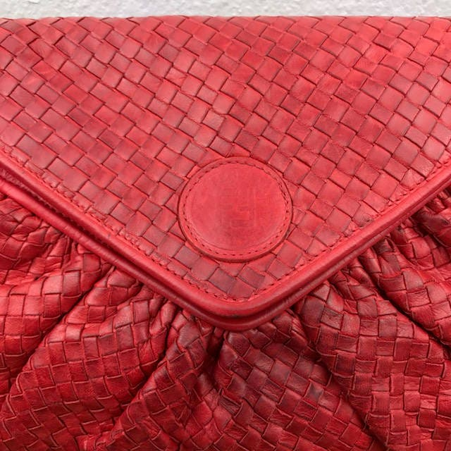Fendi Red Woven Leather Crossbody Bag 3f740ad052bb0