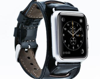Cuff Leather Apple Watch Band 42mm, Apple  Watch Strap, iwatch Band 38mm, Sporty Unisex iwatch band, Apple Watch Band Series 3