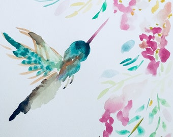 Abstract hummingbird