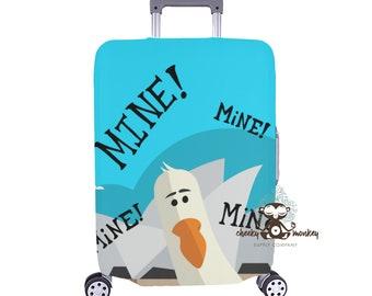 a250e13ed2fe Finding Nemo Mine Mine Seagull Inspired Luggage Cover    Medium    Disney  Cruise
