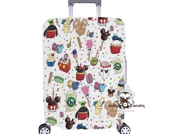 2879b35e2952 Theme Park Sweet Treats Inspired Luggage Cover    Disney Cruise