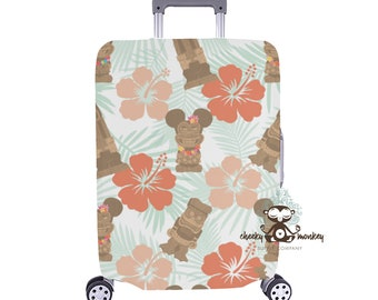 476f3a4bd12d Tiki Mickey   Friends Inspired Luggage Cover    Disney Cruise