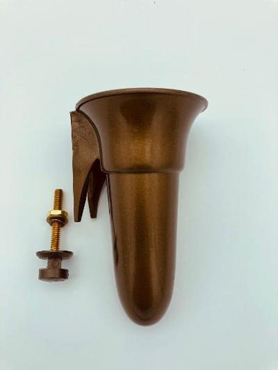 Crypt - Mausoleum Vase 4 IN - Royal Duchess - Bolt / Button Support -