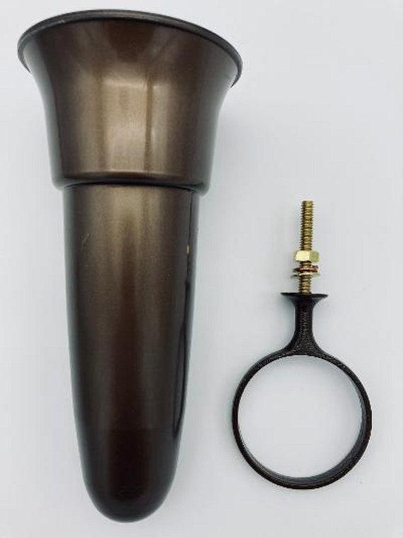 Crypt / Mausoleum  Flower Vase - 7.75 IN Standard Ring Support -